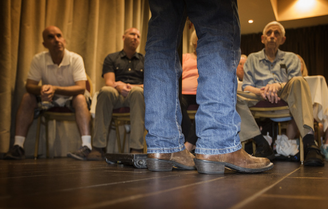 Republican presidential candidate Rand Paulspeaks to supporters Monday, June 29, 2015 during a rally at the Eureka Casino in Mesquite. Follow Jeff Scheid on Twitter @jlscheid (Jeff Scheid/Las Vega ...
