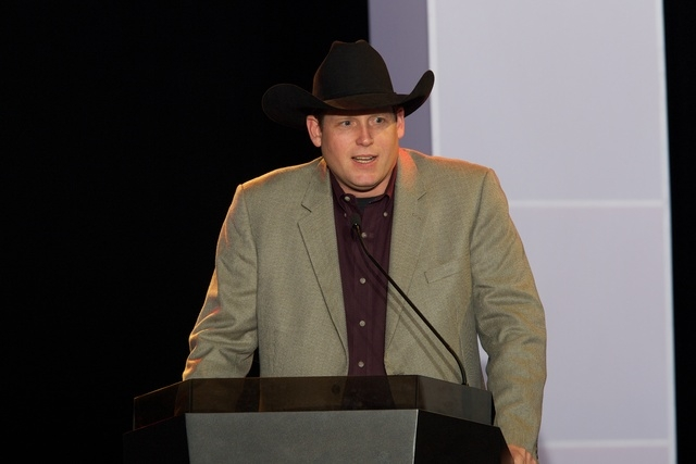 Sean Gleason at the 2010 PBR World Finals in Las Vegas. (Matt Breneman/bullstockmedia.com)
