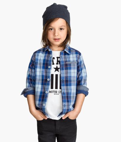 Plaid shirt for kids.