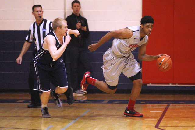 Findlay Prep forward Justin Jackson takes the ball up court against Westwind during their game Tuesday, Nov. 25, 2015 at Henderson International School. (Sam Morris/Las Vegas Review-Journal)