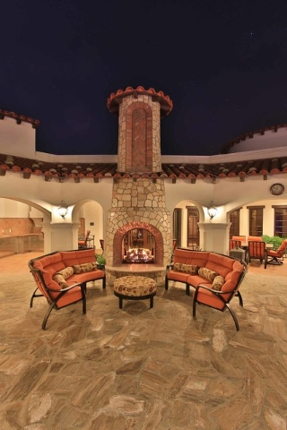 Outdoor patio with fireplace.  (Courtesy photo)