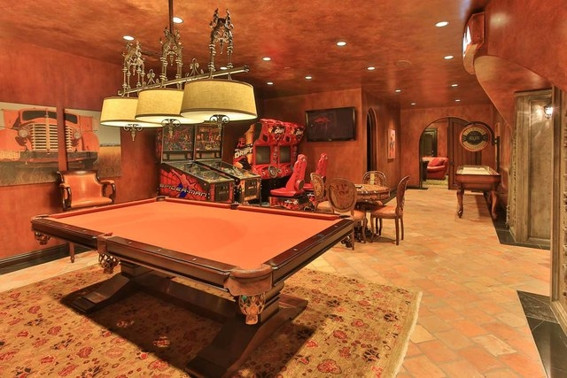 Courtesy photo  Game rooms are always important to Dad. This $25 million Spring Valley home features an upscale one in a 14,192-square-foot recreation building