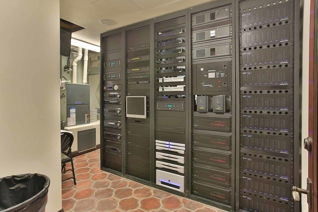 The room that holds the Crestron Home Automation system, which controls the home's technical functions, such as security, audio, video, lighting and temperature.  (Courtesy photo)
