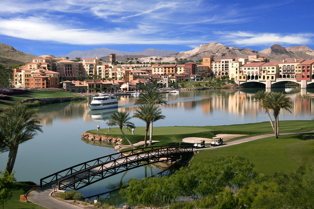 courtesy photo  Reflection golf course at Lake Las Vegas has reopened.