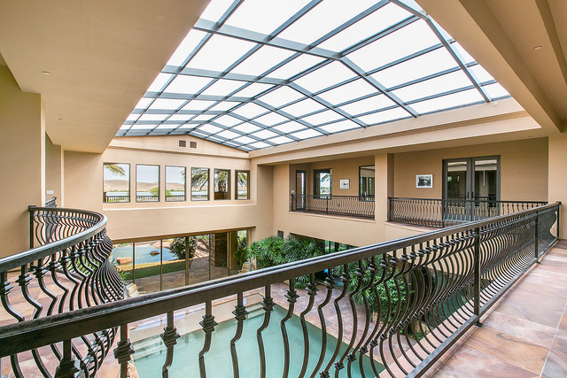 A second-story walkway above the indoor pool.  (Courtesy photo)