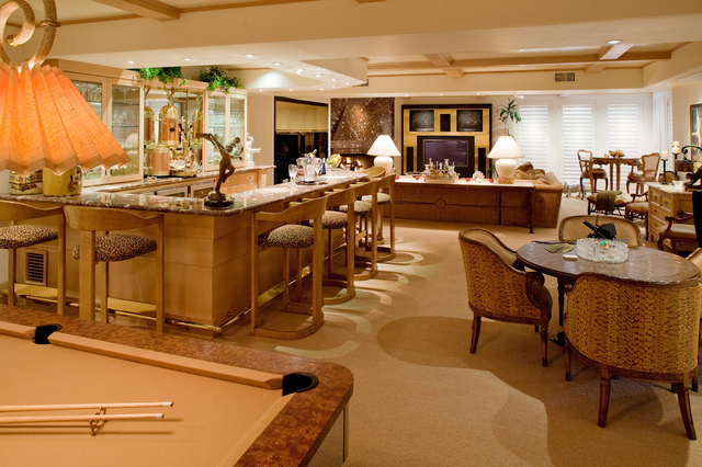 Courtesy photo When casino owner Gary Primm built this estate on a 10-acre lot at Tomiyasu Lane in the early 1990s, he made sure it had a game room off the theater. Of course it has a poker table. ...