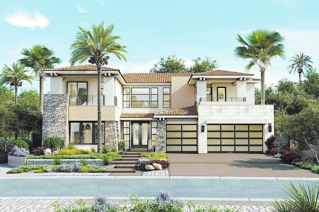 courtesy photo  William Lyon Homes has a 52 two-story neighborhood, Lago Vista at Lake Las Vegas. The model homes are expected to be completed by the first of August.