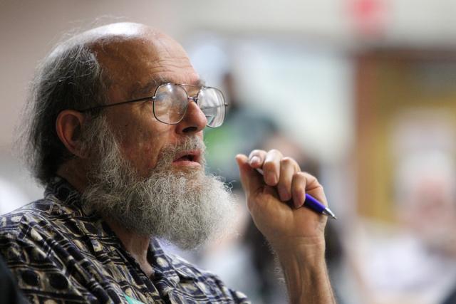 Doug Nusbaum listens during an event by the Sunday Assembly, an atheist church, at UNLV in Las Vegas Sunday, June 14, 2015. (Erik Verduzco/Las Vegas Review-Journal) Follow Erik Verduzco on Twitter ...