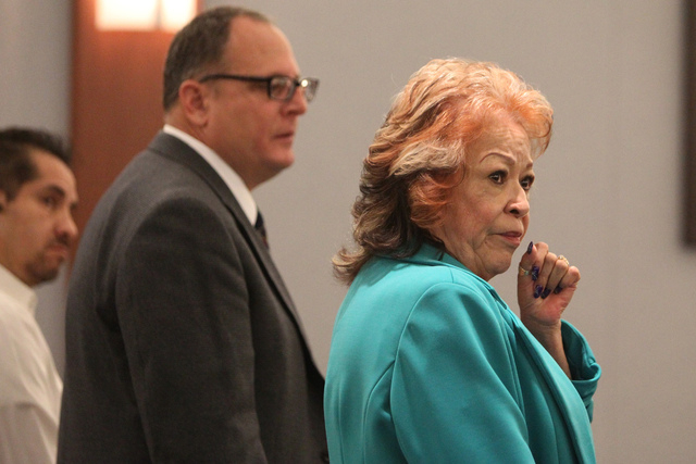 Former Clark County School District official Priscilla Rocha, who is charged with stealing over $100,000 in public funds from the Clark County School District Adult English Language Acquisition Se ...