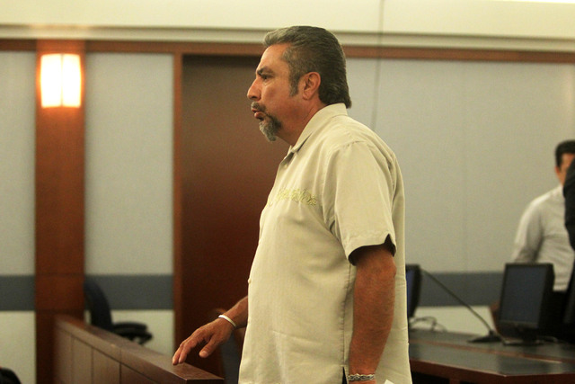 Donnie Placencia exits Judge Susan Johnson's courtroom at the Regional Justice Center on Tuesday, June 30, 2015, in Las Vegas. Rocha plead guilty to stealing hundreds of thousands of dollars from  ...
