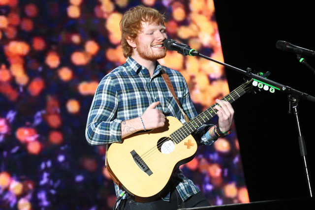 Ed Sheeran performs at the main stage during the Rock in Rio USA music festival in Las Vegas on Friday, May 15, 2015. (Chase Stevens/Las Vegas Review-Journal) Follow Chase Stevens on Twitter @csst ...