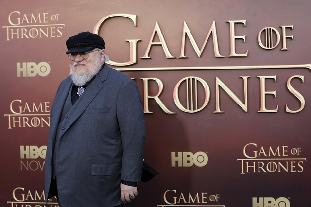 "Co-executive producer George R.R. Martin arrives for the season premiere of HBO's ""Game of Thrones"" in San Francisco, California March 23, 2015. (Robert Galbraith/Reuters)"