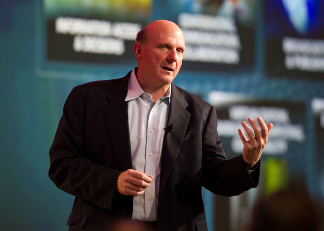 Microsoft CEO Steve Ballmer at a developers conference in May  let slip what was already a poorly kept secret - Windows 8 will go on sale in 2012. (CNN)