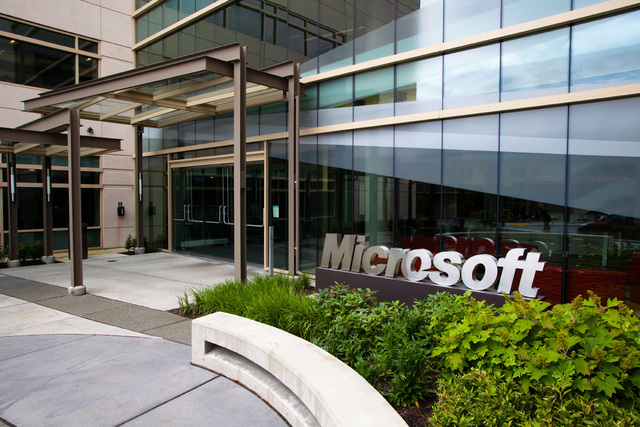 An image of the Microsoft campus in Redmond, Washington. (CNN)