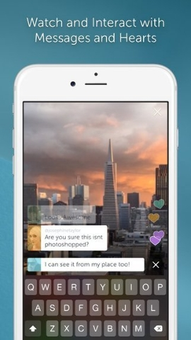 Periscope, acquired by Twitter in January, 2015, lets users live broadcast from their mobile devices. (Courtesy CNN)