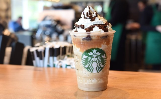 Caramel Cocoa Cluster: The blend: toffee nut syrup + coffee + milk + ice + whipped cream + caramel sauce (Courtesy CNN)