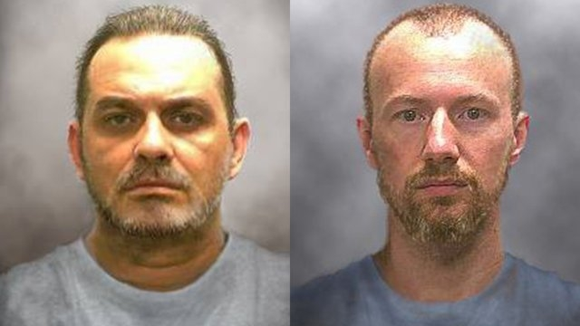 """The New York State Police issued these """"progression"""" photos of Richard Matt and David Sweat on June 17, 2015. Matt, 49, and Sweat, 35, escaped from the Clinton Correctional Facility in Dannemora,  ..."""