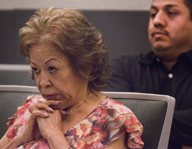 Priscilla Rocha  during her arraignment at Regional Justice Center on Wednesday, July 30, 2014.  Rocha and four of her co-defendants  are charged with a total of 52 counts related to theft from th ...
