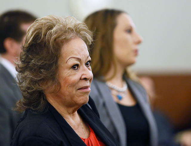 Priscilla Rocha appears in Judge Kenneth Cory's courtroom at Regional Justice Center Monday. (Ronda Churchill/Las Vegas Review-Journal)