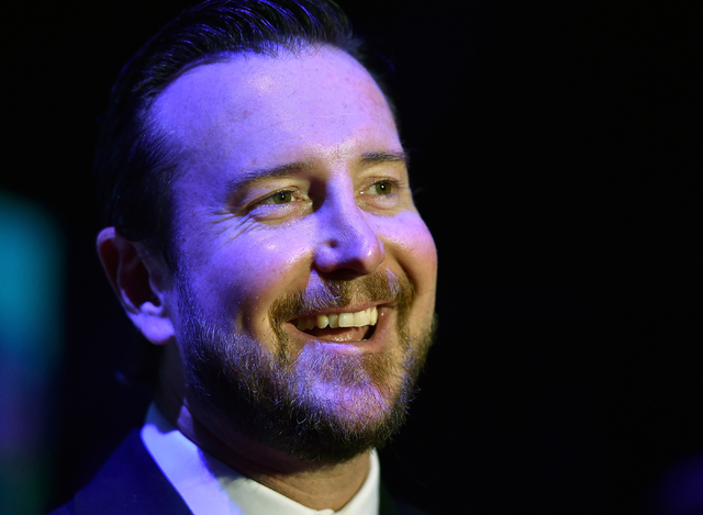 NASCAR driver Kurt Busch appears at the Southern Nevada Sports Hall of Fame induction event at the Orleans Arena on Friday, June 19, 2015, in Las Vegas. (David Becker/Las Vegas Review-Journal)