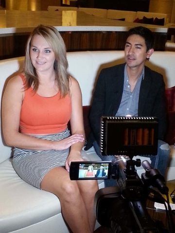 Chelsea Rachelle Ridenour, 25, left, and Jay Thomas Carlson, 26, native Montanans now living in Las Vegas, are interviewed Thursday, June 18, 2015, at Red Rock Resort about the Luxy online dating  ...