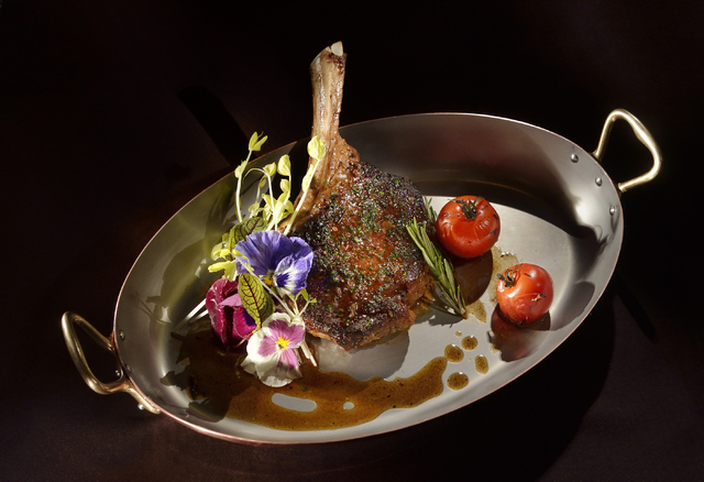 A rib-eye steak is shown at the DJT restaurant at the Trump Las Vegas. (Bill Hughes/Las Vegas Review-Journal)