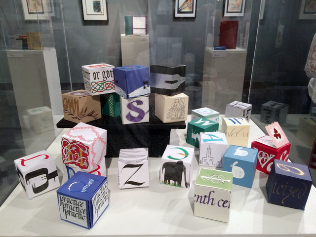 Nancy Sampson's paper cubes adorned with calligraphy and artwork are scheduled to be included in the Fabulous Las Vegas Scribes Membership Show, planned June 23 to Sept. 1 at the West Charleston L ...