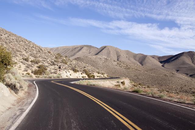 Scenic view of a winding desert road through Nevada. (Thinkstock)