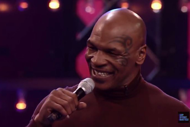 Mike Tyson appeared on Lip Sync Battle on Spike this week and battled actor Terry Crews. (Screengrab/YouTube/Lip Sync Battle on Spike)