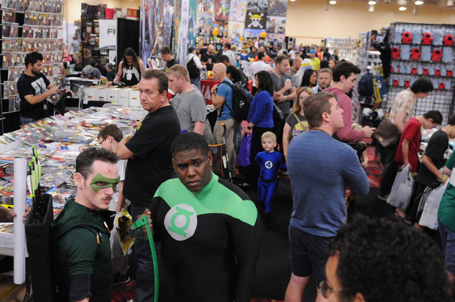 Comic book fans gather during the 2014 Amazing Las Vegas Comic Con at South Point casino-hotel in Las Vegas Saturday, June 21, 2014. (Erik Verduzco/Las Vegas Review-Journal)