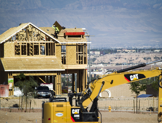 Construction is seen Wednesday, June 3, 2015 at Cadence, a 2,200 acre planned community, on Lake Mead Parkway east of Boulder Highway in Henderson. (Jeff Scheid/Las Vegas Review-Journal) Follow Je ...