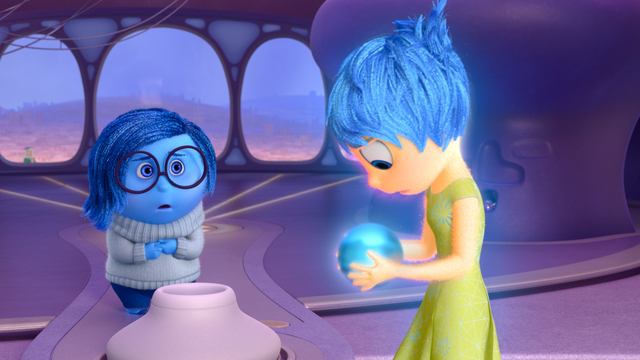 """Disney Pixar's """"Inside Out"""" opens in theaters June 19, 2015. Pictured (L-R): Sadness, Joy. (Courtesy Disney Pixar)"""