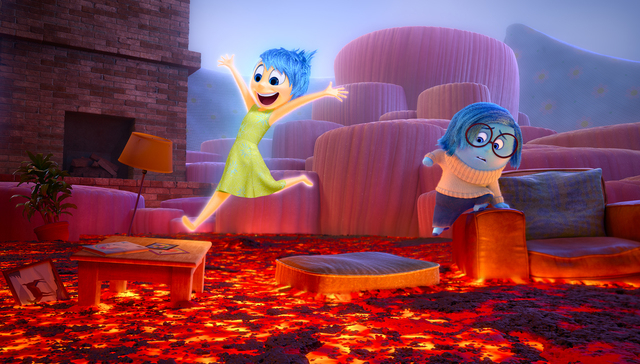 """Disney Pixar's """"Inside Out"""" opens in theaters June 19, 2015.Joy and Sadness navigate through Imagination Land. (Courtesy Disney Pixar)"""