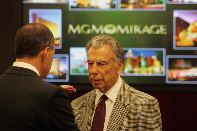 Kirk Kerkorian, MGM Resorts' founder and largest shareholder, is shown Feb. 24, 2005. (Las Vegas Review-Journal file)