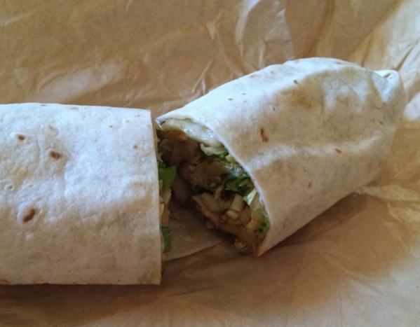 A Thai chicken wrap is shown at Earl of Sandwich in Downtown Summerlin. (Jan Hogan/View)