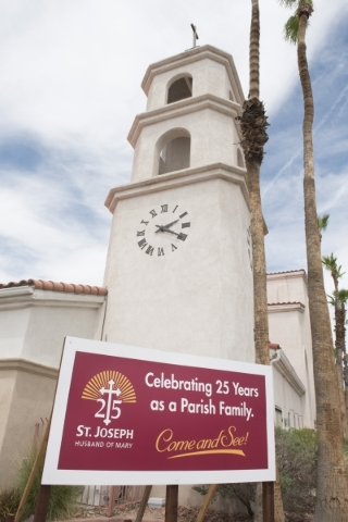 St. Joseph, Husband of Mary Roman Catholic Church at 7260 W. Sahara Ave. in Las Vegas is shown on Sunday, July 12, 2015. (Jason Ogulnik/Las Vegas Review-Journal)