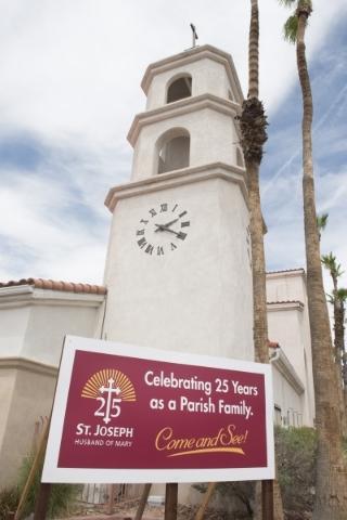 St. Joseph, Husband of Mary Roman Catholic Church at 7260 W. Sahara Ave. in Las Vegas is shown on Sunday, July 12, 2015. (Jason Ogulnik/Las Vegas Review-Journal)