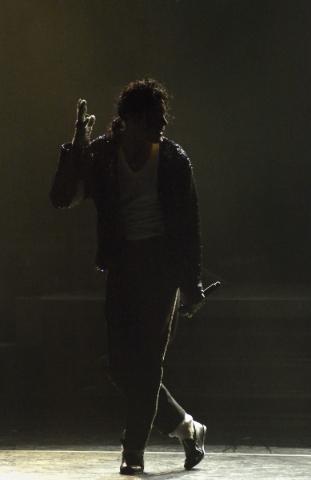 "Jason Jarrett performs as Michael Jackson during ""Legends in Concert"" at the Flamingo hotel-casino at 3555 Las Vegas Blvd. S. on Thursday, July 9, 2015. (Bill Hughes/Las Vegas Review-Jou ..."