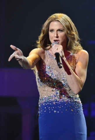 """Elisa Furr performs as Celine Dion during """"Legends in Concert"""" at the Flamingo hotel-casino at 3555 Las Vegas Blvd. S. on Thursday, July 9, 2015. (Bill Hughes/Las Vegas Review-Journal)"""