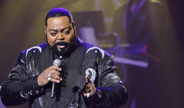 """Jourdan Carroll performs as Barry White during """"Legends in Concert"""" at the Flamingo hotel-casino at 3555 Las Vegas Blvd. S. on Thursday, July 9, 2015. (Bill Hughes/Las Vegas Review-Journal)"""