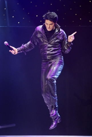 """Dean Zeligman performs as Elvis Presley during """"Legends in Concert"""" at the Flamingo hotel-casino at 3555 Las Vegas Blvd. S. on Thursday, July 9, 2015. (Bill Hughes/Las Vegas Review-Journal)"""