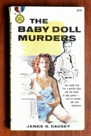 """The Baby Doll Murders"" boasts it is a ""Gold Medal Book,"" whatever that is. It is part of the pulp-fiction collection at the Clark County Museum. (Bill Hughes/Las Vegas Review- ..."