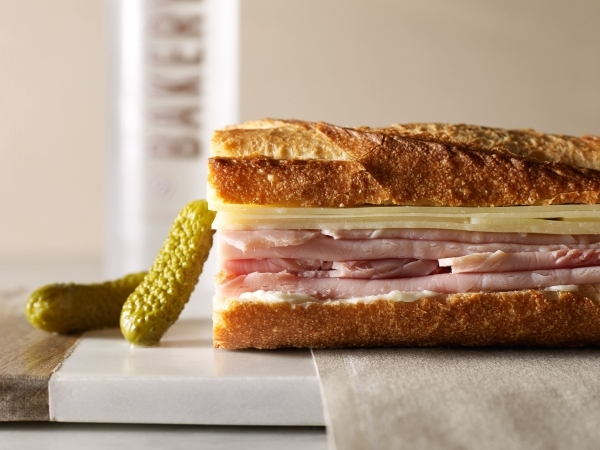 This ham and cheese baguette is among the picnic-ready items offered by Bouchon Bakery at The Venetian. (Courtesy photo by Deborah Jones).