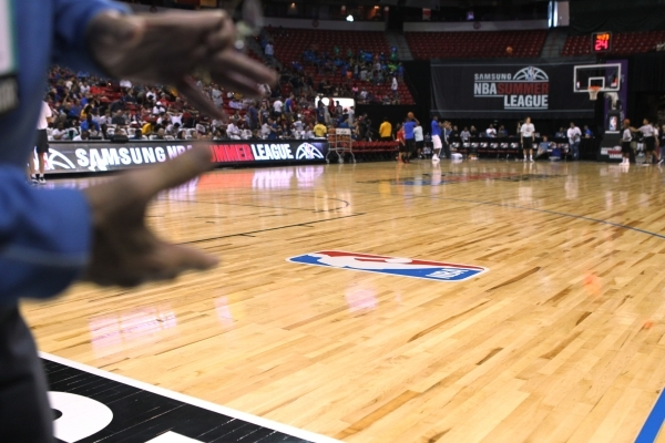 Little known company supplies hardwood for nba summer for Hardwood floors las vegas