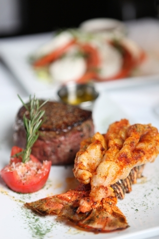Filet mignon and lobster are served at Larsen's Grill in Henderson. Courtesy