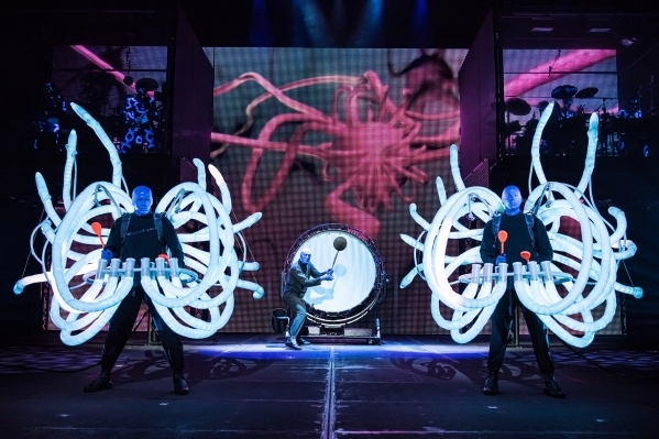 The new Monte Carlo theater means the Blue Man Group will move from its 1,274-seat venue to the 830-seat theater created for the Jabbawockeez at the Luxor. (Courtesy)