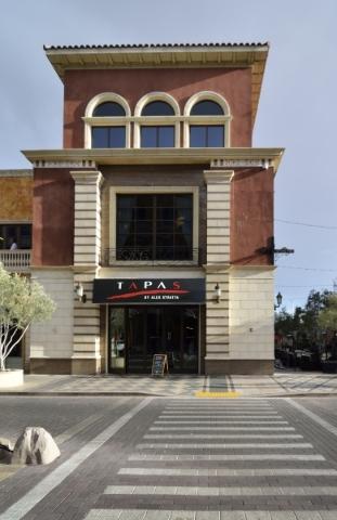 The exterior of Tapas by Alex Stratta in Tivoli Village. (Bill Hughes/Las Vegas Review-Journal)