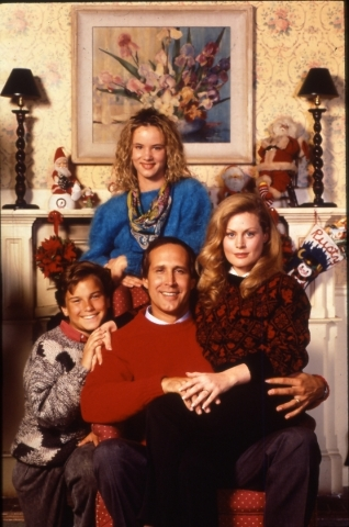 """""""National Lampoon's Christmas Vacation,"""" released in 1989, has become a surprise holiday staple. Clockwise from top are Juliette Lewis (Audrey), Beverly D'Angelo (Ellen), Che ..."""