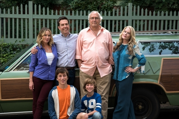 """Vacation,"" the newest installment of the long-dormant film franchise, is in theaters starting Wednesday. Shown as the Griswolds, clockwise from top left, are Christina Applegate (Debbie ..."