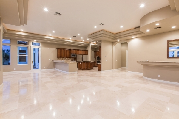 This Las Vegas mansion on Winter Palace Drive features an expansive great room and kitchen. COURTESY PHOTO